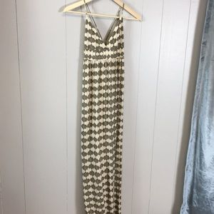 Joie Spaghetti Strap Maxi Dress Aztec Print Small
